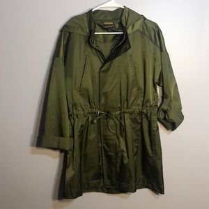 dana buchman army green jacket!!